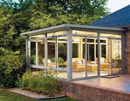Sunrooms Patio Enclosures Hybrid Straight Solid Roof Solarium Or Patio Enclosure