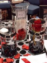 Red And White Centerpieces For Wedding by Red Rose Centerpiece For Black White And Red Wedding By Event