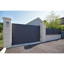 brise vue retractable 4m portail coulissant aluminium lao gris naterial l 350 cm x h 170