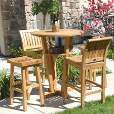 Patio High Table And Chairs by Marco Island Brownstone Commercial Grade Aluminum Bar Height Patio