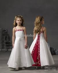 wholesale lovely cheap flower dress wedding pageant white