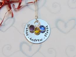 Necklace With Children S Names Mother U0027s Love Necklace Children U0027s Names On Luulla