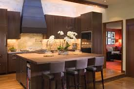 attractive best tile for kitchen with wooden table and three