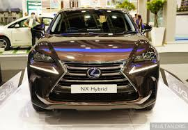 lexus nx300h volvo xc60 lexus nx 300h on display at igem 2014 in klcc