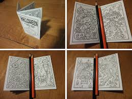 Printable Halloween Activity Book Halloween Teeny Zine Candyhippie Coloring Pages