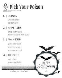 Halloween Templates Free Printable Halloween Dinner Menu Printable Reasons To Skip The Housework