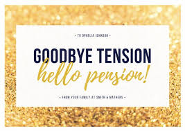 retirement card gold and white retirement card templates by canva