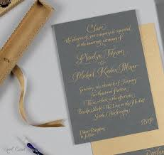 real card studio written invitations for an intimate seattle