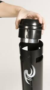 sable pour cendrier cendrier exterieur smoker u0027s pole rubbermaid noir