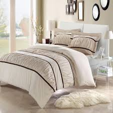 Bed In A Bag Set Betsy Beige King 7 Piece Ruffled Duvet Cover Bed In A Bag Set