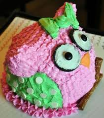 baby owl cake some purple accent love the polka dots 1st