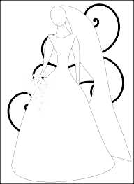 bride and groom coloring page pictures of bride free download clip art free clip art on