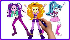 my little pony equestria girls rainbow rocks coloring book