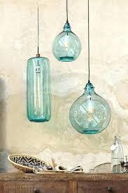 Light Blue Pendant Light Teal Glass Pendant Light Recycled Glass Pendant Light Riverjordan Co