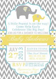 theme invitations baby shower invitations elephant theme theruntime
