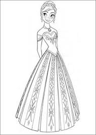disney frozen anna coloring pages letscoloring shrinky