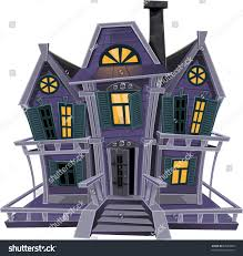 cute tile background halloween haunted halloween witch house isolated on stock vector 82089808