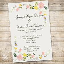 wedding invitations floral floral garden wedding invitations iwi307 wedding