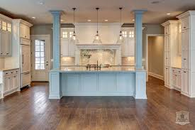 kitchen islands with columns bell jar lanterns transitional kitchen stonecroft homes