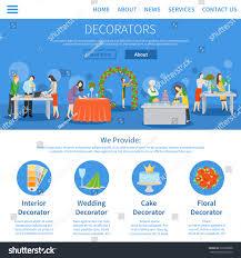 professional decorators services weddings parties interior stock