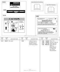 briggs and stratton 437447 0105 99 parts diagram for label