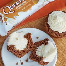 quest nutrition mini pumpkin cream cheese muffins the bloq