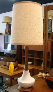 Midcentury Modern Lamps - danish modern table lamp with original vintage shade within mid