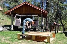 Diy Bed Platform Diy Campervan Bed Frame With Built In Storage Two Wandering Soles