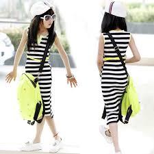 aliexpress com buy retail girls u0027 black and white stripe dress