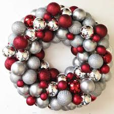 how to make an easy diy ornament wreath the happier homemaker