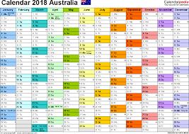 australia calendar 2018 free printable pdf templates
