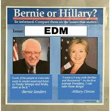 Edm Memes - edm bernie or hillary know your meme