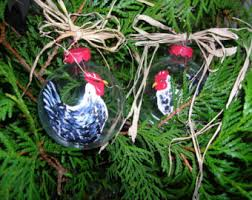 rooster egg ornament etsy