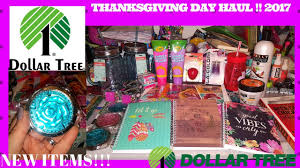 thanksgiving day dollar tree haul november 2017 new items