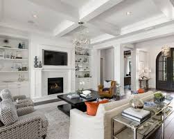Houzz Media Room - our 50 best transitional living room with a media wall ideas