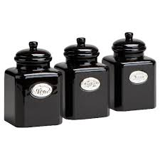 black kitchen canister sets tesco country kitchen tea coffee sugar bundle appliances tracker