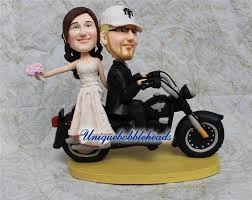 custom wedding cake toppers and groom motorcycle wedding cake topper unique cake topper cake
