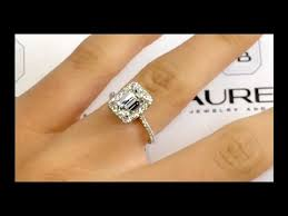 emerald cut engagement rings 2 carat 2 00 carat emerald cut ring in cathedral halo