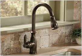 kitchen faucet handle moen 7185csl brantford one handle high arc pulldown kitchen faucet