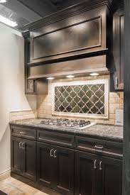 Kitchen Mural Backsplash Kitchen Artisan Arabesque Ceramic Tile Focal Point With Sandlewood
