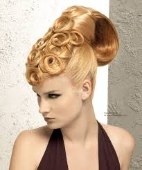 upstyle hair styles sleek up style with spiraling pin curls