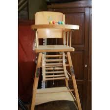 chaise haute b b bois chaise haute en bois bébé pas cher achat et vente priceminister