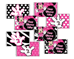 free minnie mouse printables minnie mouse mini candy bar