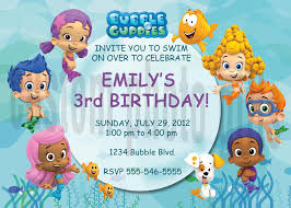 bubble guppy birthday invitations cimvitation