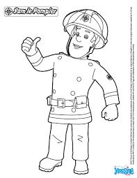 coloriages sam le pompier à imprimer fr hellokids com