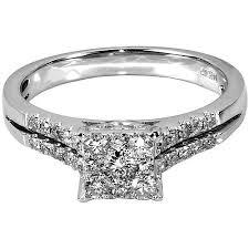 diamond rings square images 1 2 carat t w square diamond 10kt white gold engagement ring jpeg