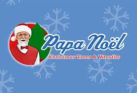 papa noel trees logo design