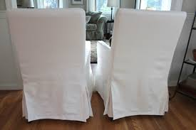 fresh simple white slip covered dining chairs 24456