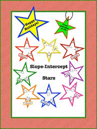 slope intercept stars by activities by jill teachers pay teachers