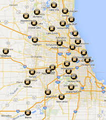 Aurora Illinois Map by Chicago Title Metro Locations